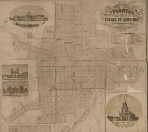 Mapa de Campinas 1878 18c00549cb6